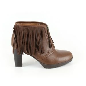 American Living Kallee Womens Fringe Ankle Booties